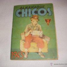 Tebeos: ALMANAQUE CHICOS 1943, EDITORIAL CONSUELO GIL. Lote 40742223