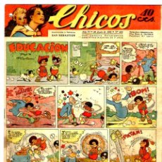 Tebeos: CHICOS Nº 255 23/06/1943 ** CONSUELO GIL. Lote 41419045