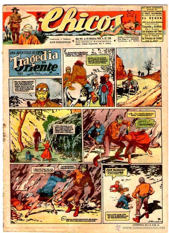 CHICOS Nº 365 21/10/1945 ** CONSUELO GIL (Tebeos y Comics - Consuelo Gil)
