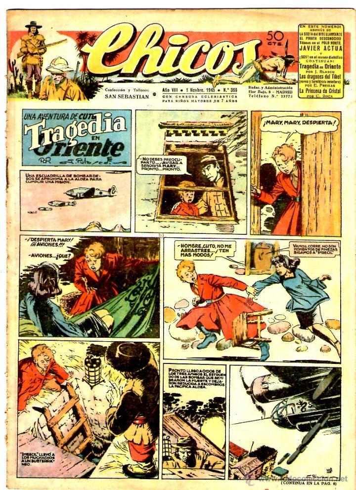 CHICOS Nº 366 01/11/1945 ** CONSUELO GIL (Tebeos y Comics - Consuelo Gil)