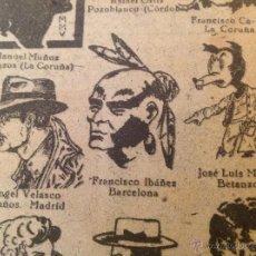 Livros de Banda Desenhada: PRIMERA PUBLICACIÓN DE FRANCISCO IBÁÑEZ CON 11 AÑOS REVISTA CHICOS 458 (AÑO 1947) + DIBUJO QUE COPIÓ. Lote 41874456