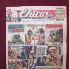 Tebeos: CHICOS AÑO IX. Nº 397. 4 DE AGOSTO DE 1946. CUTO DE JESÚS BLASCO, IRIBARREN, COZZI, PUIGMIQUEL, ETC. Lote 42656069