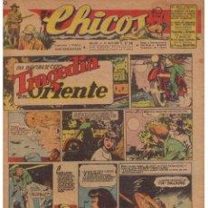 Tebeos: CHICOS. Nº 348. 11 DE ABRIL 1945. UNA AVENTURA DE CUTO. EDTOR. CONSUELO GIL. Lote 44430137
