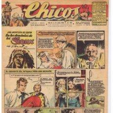 Tebeos: CHICOS. Nº 395. 21 JULIO 1946. UNA AVENTURA DE CUTO. EDTOR. CONSUELO GIL. Lote 44430166