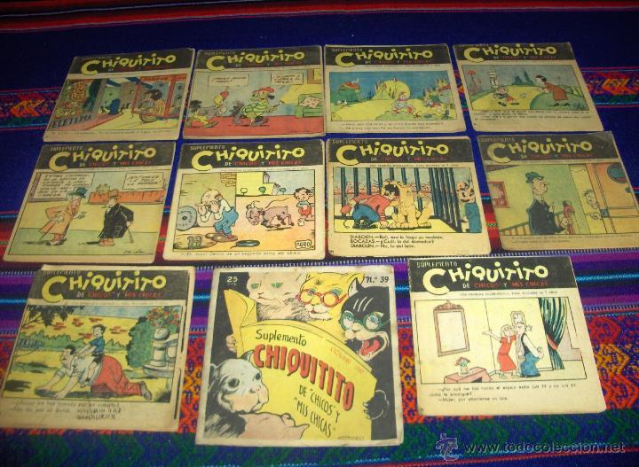 SUPLEMENTO CHIQUITITO DE CHICOS Y MIS CHICAS NºS 37 39 53 54 57 64 Y CINCO NºS MÁS. (Tebeos y Comics - Consuelo Gil)