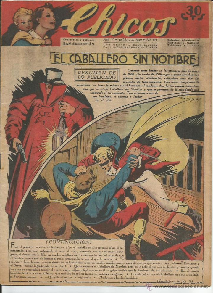 CHICOS - Nº 213 (Tebeos y Comics - Consuelo Gil)