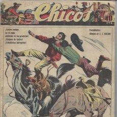 Tebeos: TEBEO CHICOS AÑO VII 5 JULIO 1944 Nº 309, UN JINETE DEL OESTE, CUENTOS HISTORIETAS. Lote 49709373