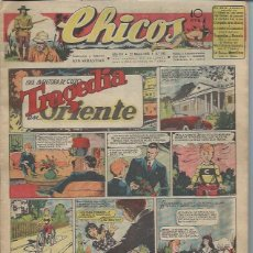 Giornalini: TEBEO CHICOS AÑO VIII 21 MARZO 1945 Nº 345, UNA AVENTURA DE CUTO TRAGEDIA EN ORIENTE. Lote 49720311