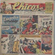Tebeos: TEBEO CHICOS AÑO IX 31 MARZO 1946 Nº 379 UNA AVENTURA DE CUTO TRAGEDIA EN ORIENTE. Lote 49720364