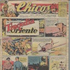 Tebeos: TEBEO CHICOS AÑO VIII 7 MARZO 1945 Nº 343, UNA AVENTURA DE CUTO TRAGEDIA EN ORIENTE. Lote 49720419