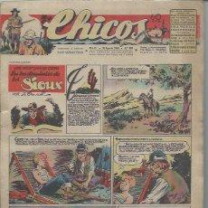 Tebeos: TEBEO CHICOS AÑO IX 18 AGOSTO 1946 Nº 399, UNA AVENTURA DE CUTO EN LOS DOMINIOS DE SIOUX. Lote 49720437