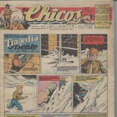 Tebeos: TEBEO CHICOS AÑO IX 7 ABRIL 1946 Nº 380, UNA AVENTURA DE CUTO TRAGEDIA EN ORIENTE. Lote 49720447