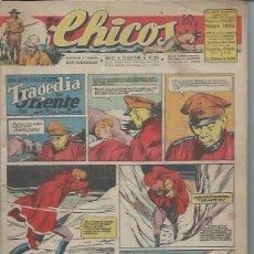 Tebeos: TEBEO CHICOS AÑO IX 14 ABRIL 1946 Nº 381, UNA AVENTURA DE CUTO TRAGEDIA EN ORIENTE. Lote 49720488