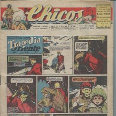 Tebeos: TEBEO CHICOS AÑO IX 21 ABRIL 1946 Nº 382, UNA AVENTURA DE CUTO TRAGEDIA EN ORIENTE. Lote 49720495