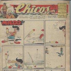Tebeos: TEBEO CHICOS AÑO IX 5 MAYO 1946 Nº 384, MIEDO, BENGALA, CUENTOS HISTORIETAS. Lote 49720509