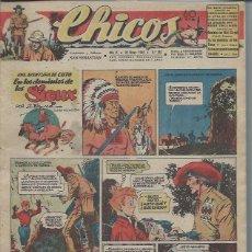 Tebeos: TEBEO CHICOS AÑO IX 26 MAYO 1946 Nº 387, UNA AVENTURA DE CUTO EN LOS DOMINIOS DE SIOUX. Lote 49720529
