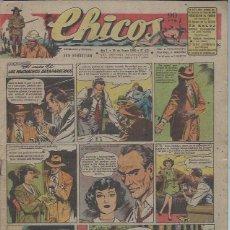 Tebeos: TEBEO CHICOS AÑO X 25 ENERO 1948 Nº 471, EL CASO DE LOS MUCHACHOS DESAPARECIDOS. Lote 49729307