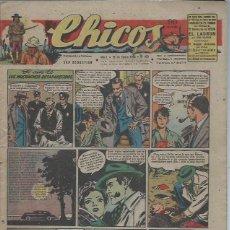 Tebeos: TEBEO CHICOS AÑO X 18 ENERO 1948 Nº 470, EL CASO DE LOS MUCHACHOS DESAPARECIDOS. Lote 49729311