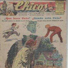Livros de Banda Desenhada: TEBEO CHICOS AÑO X 4 ENERO 1948 Nº 468, QUÉ HACE CUTO, DÓNDE ESTÁ CUTO. Lote 49729321