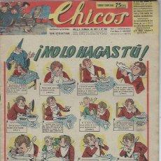 Tebeos: TEBEO CHICOS AÑO X 16 MARZO 1947 Nº 428, NO LO HAGAS TU. Lote 49729381