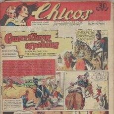 Tebeos: TEBEO CHICOS AÑO V 30 SEPTIEMBRE 1942 Nº 227 GUERRILLEROS ESPAÑOLES. Lote 49729458