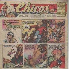 Tebeos: TEBEO CHICOS AÑO IX 16 JUNIO 1946 Nº 390, UNA AVENTURA DE CUTO EN LOS DOMINIOS DE SIOUX. Lote 49729469