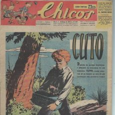 Tebeos: TEBEO CHICOS AÑO X 18 MAYO 1947 Nº 437, CUTO. Lote 49729521