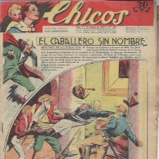 Tebeos: TEBEO CHICOS AÑO V 10 AGOSTO 1942 Nº 222, EL CABALLERO SIN NOMBRE. Lote 49729645