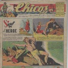 Tebeos: TEBEO CHICOS AÑO X 21 DICIEMBRE 1947 Nº 466, SIGUR EL HÉROE. Lote 49729784