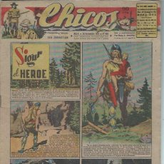Tebeos: TEBEO CHICOS AÑO X 30 NOVIEMBRE 1947 Nº 464, SIGUR EL HÉROE. Lote 49729790