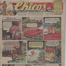 Tebeos: TEBEO CHICOS AÑO XI 23 MAYO 1948 Nº 488, EL CASO DE LOS MUCHACHOS DESAPARECIDOS. Lote 49730541