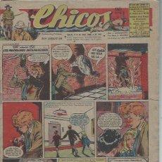 Tebeos: TEBEO CHICOS AÑO XI 4 ABRIL 1948 Nº 431, EL CASO DE LOS MUCHACHOS DESAPARECIDOS. Lote 49730693
