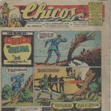 Livros de Banda Desenhada: TEBEO CHICOS AÑO X 12 OCTUBRE 1947 Nº 457, LOS HIJOS DE CORAZÓN DE HIENA. Lote 49732267