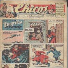 Tebeos: TEBEO CHICOS AÑO VIII 1 NOVIEMBRE 1945 Nº 366, UNA AVENTURA DE CUTO TRAGEDIA EN ORIENTE. Lote 49751551