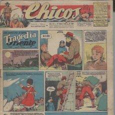 Tebeos: TEBEO CHICOS AÑO VIII 11 DICIEMBRE 1945 Nº 369, UNA AVENTURA DE CUTO TRAGEDIA EN ORIENTE. Lote 49751563