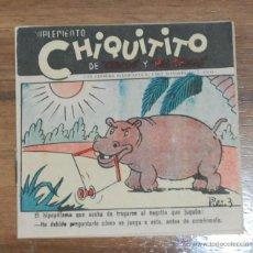 Tebeos: TEBEO SUPLEMENTO CHIQUITITO DE CHICOS Y MIS CHICAS - TALLERES OFFSET AÑOS 40. Lote 54792888