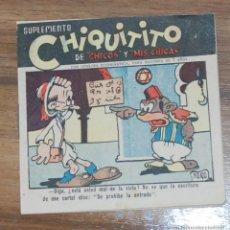 Tebeos: TEBEO SUPLEMENTO CHIQUITITO DE CHICOS Y MIS CHICAS - TALLERES OFFSET AÑOS 40. Lote 54792934