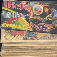 Tebeos: DIEGO VALOR. COLECCIÓN COMPLETA+ALMANAQUE 2055+ 1 LIBRO SOBRE DIEGO VALOR .. Lote 66474338