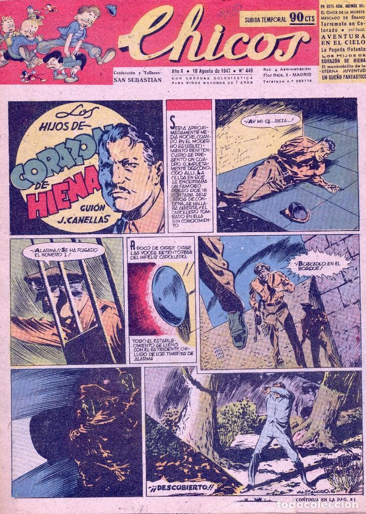 CHICOS Nº449. ADRIANO BLASCO, CANELLAS CASALS, GABI, COZZI, WHITE... (Tebeos y Comics - Consuelo Gil)