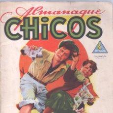 Tebeos: ALMANAQUE CHICOS 1945 ORIGINAL, BUENA CONSERVACION- CUTO DE J.BLASCO - FREIXAS ETC.. Lote 85465476