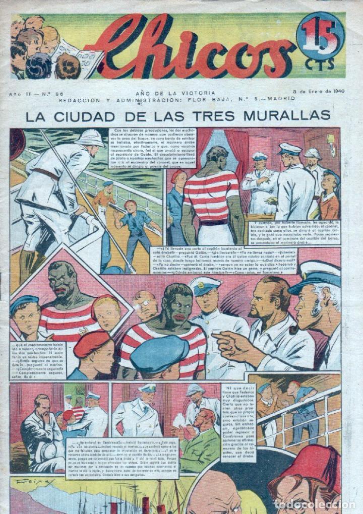 CHICOS ORIGINAL Nº 96 - ENERO 1940 - MUY BUENA CONSERVACION, MUY DIFICIL (Tebeos y Comics - Consuelo Gil)