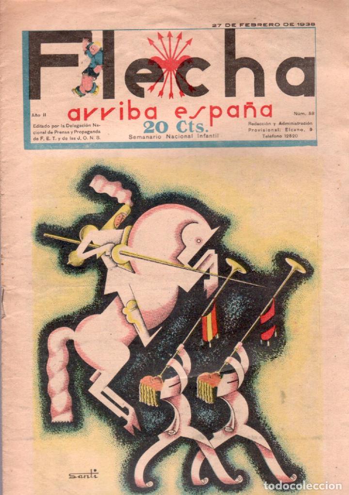 FLECHA ORIGINAL Nº 58 - FEBRERO 1938 - BUENA CONSERVACION (Tebeos y Comics - Consuelo Gil)