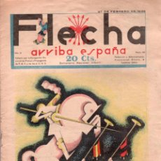Tebeos: FLECHA ORIGINAL Nº 58 - FEBRERO 1938 - BUENA CONSERVACION. Lote 89612000