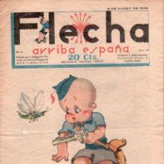 Tebeos: FLECHA ORIGINAL Nº 59 - MARZO 1938 - BUENA CONSERVACION. Lote 89612156