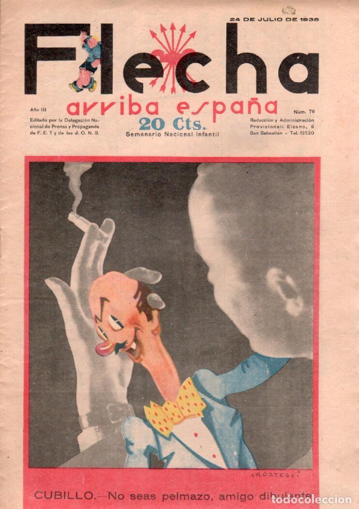 FLECHA ORIGINAL Nº 79 - JULIO 1938 - MUY BUENA CONSERVACION (Tebeos y Comics - Consuelo Gil)