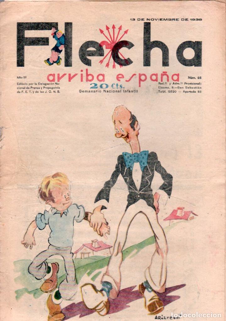 FLECHA ORIGINAL Nº 95 - NOVIEMBRE 1938 - CON RECORTABLE (Tebeos y Comics - Consuelo Gil)