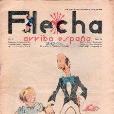Tebeos: FLECHA ORIGINAL Nº 95 - NOVIEMBRE 1938 - CON RECORTABLE. Lote 89612616