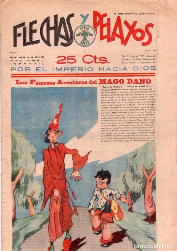 FLECHAS Y PELAYOS Nº 22 ORIGINAL 1939 - (Tebeos y Comics - Consuelo Gil)