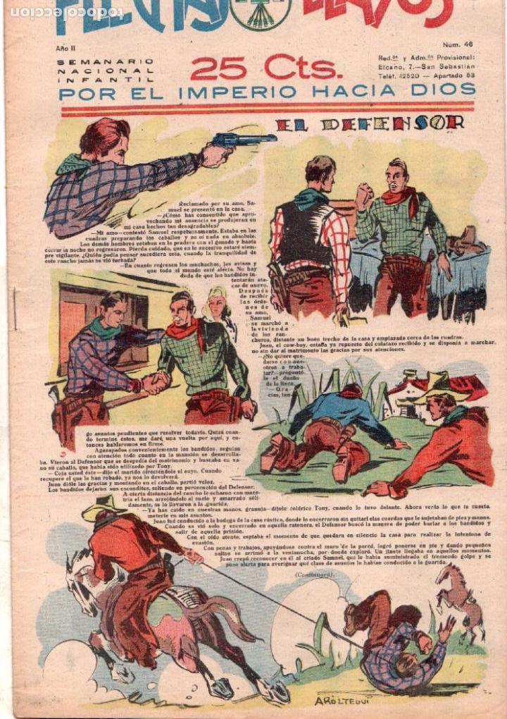 FLECHAS Y PELAYOS Nº 46 - OCTUBRE 1939 - MUY BUENA CONSERVACION (Tebeos y Comics - Consuelo Gil)
