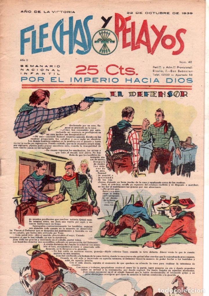 Tebeos: FLECHAS Y PELAYOS Nº 46 - OCTUBRE 1939 - MUY BUENA CONSERVACION - Foto 2 - 89612788
